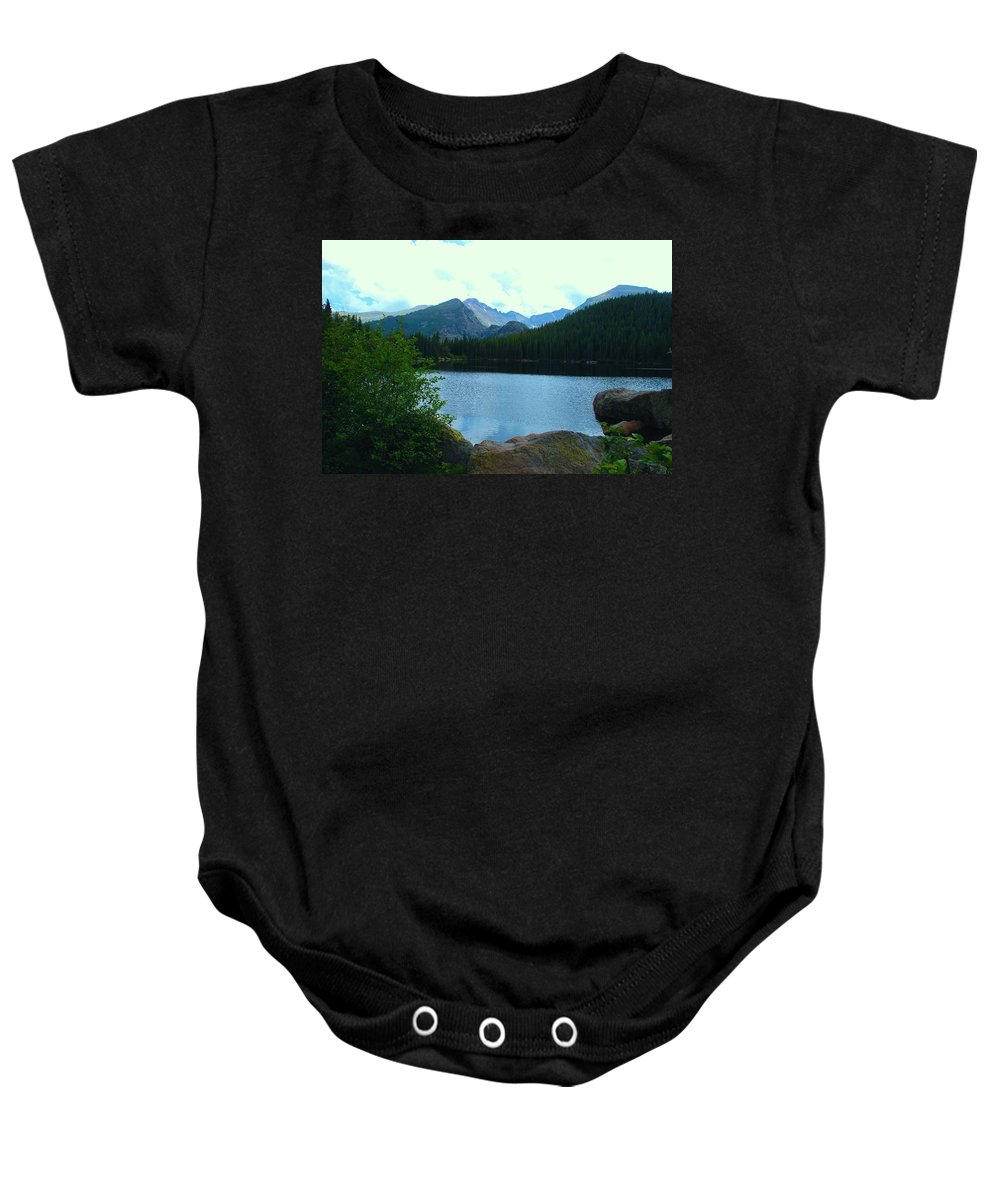 Bear Lake Baby Onesie featuring the photograph Bear Lake - Colorado by Dany Lison