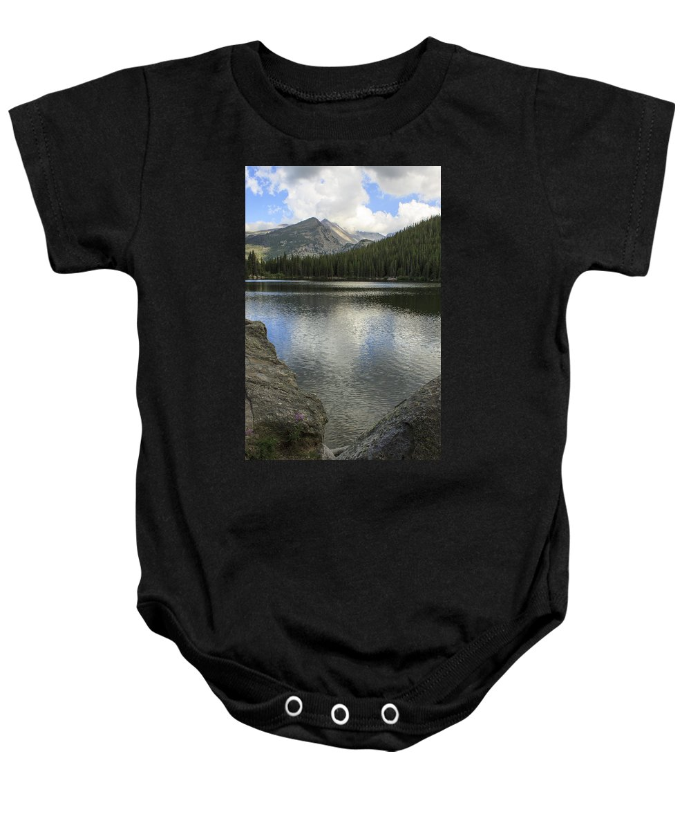 Alpine Baby Onesie featuring the photograph Bear Lake by Richard Smith