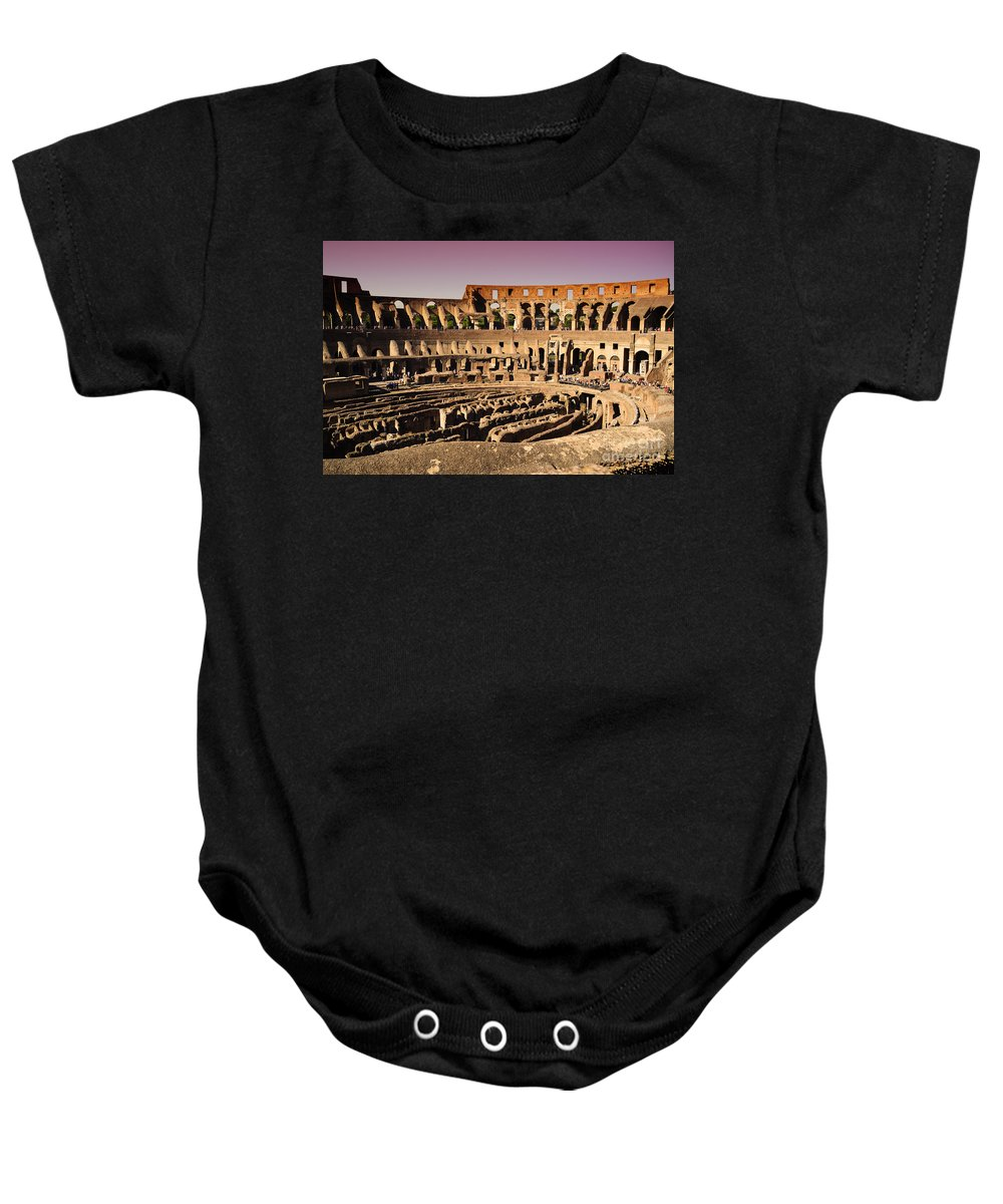 Rome Baby Onesie featuring the photograph Beautiful Colosseum Rome by Phill Petrovic