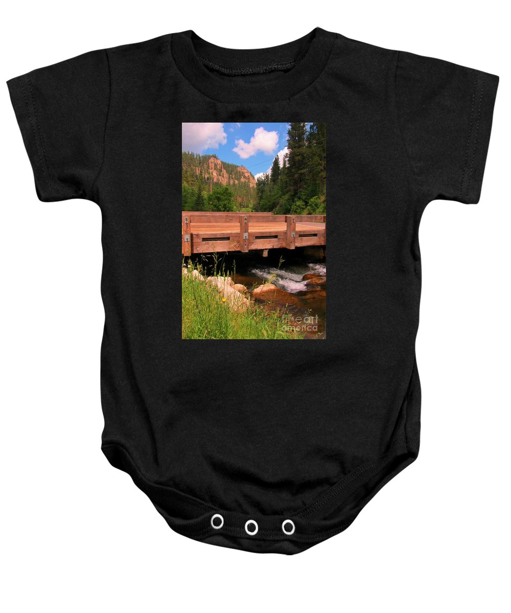 Water Fall Prints Baby Onesie featuring the photograph Beautiful Spearfish Canyon by John Malone