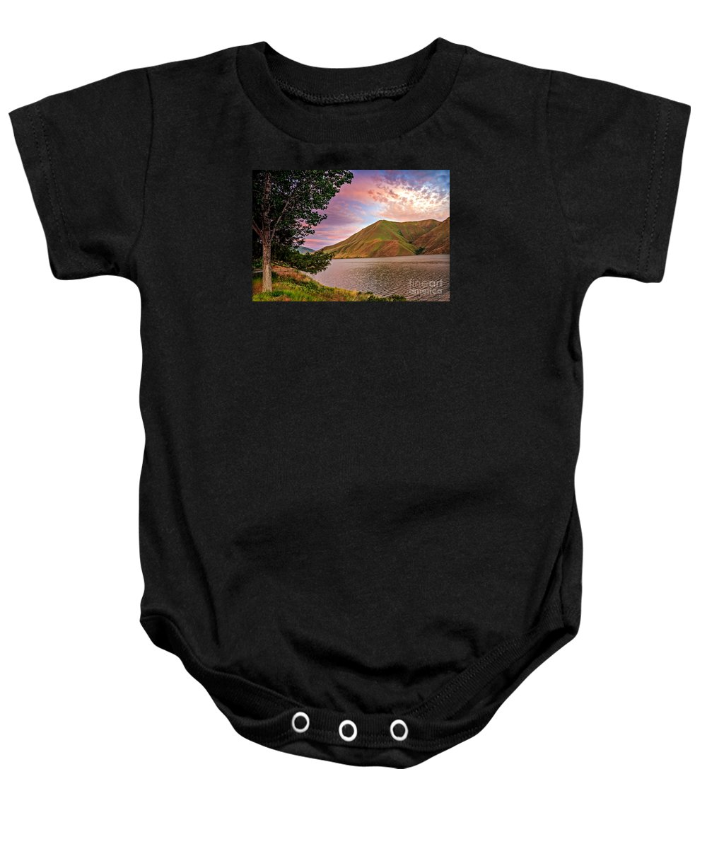 Hells Canyon Baby Onesie featuring the photograph Beautiful Sunrise by Robert Bales