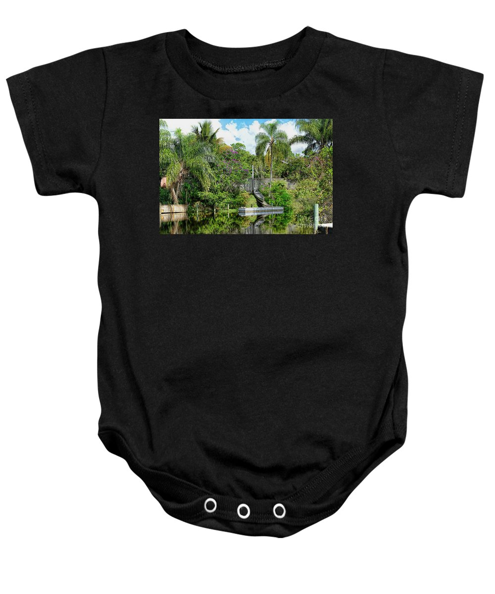 Nature Baby Onesie featuring the photograph Beautiful Winter Day In Florida by Olga Hamilton