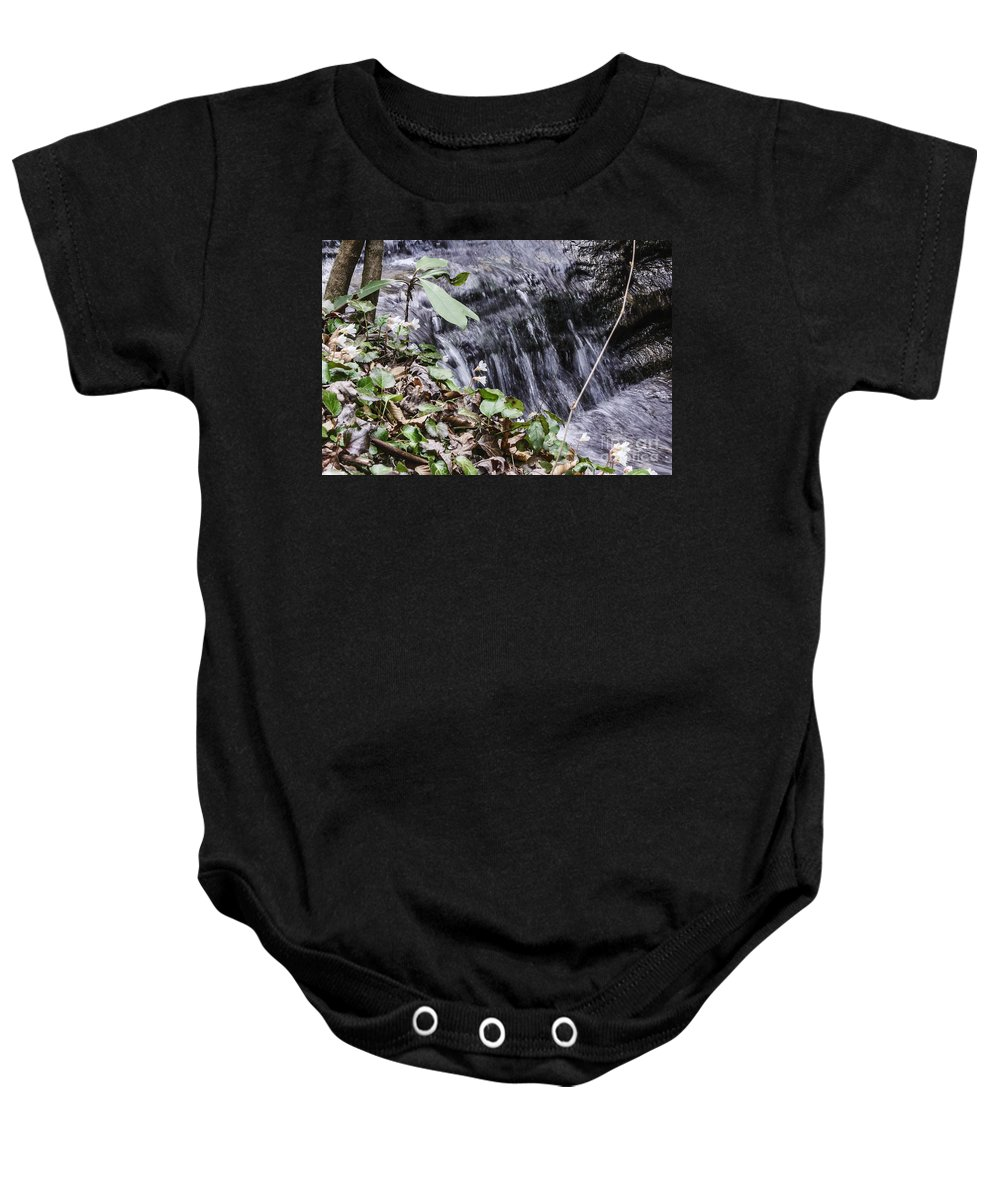 Oconee Bell Baby Onesie featuring the photograph Beauty And The Rapids by Elvis Vaughn