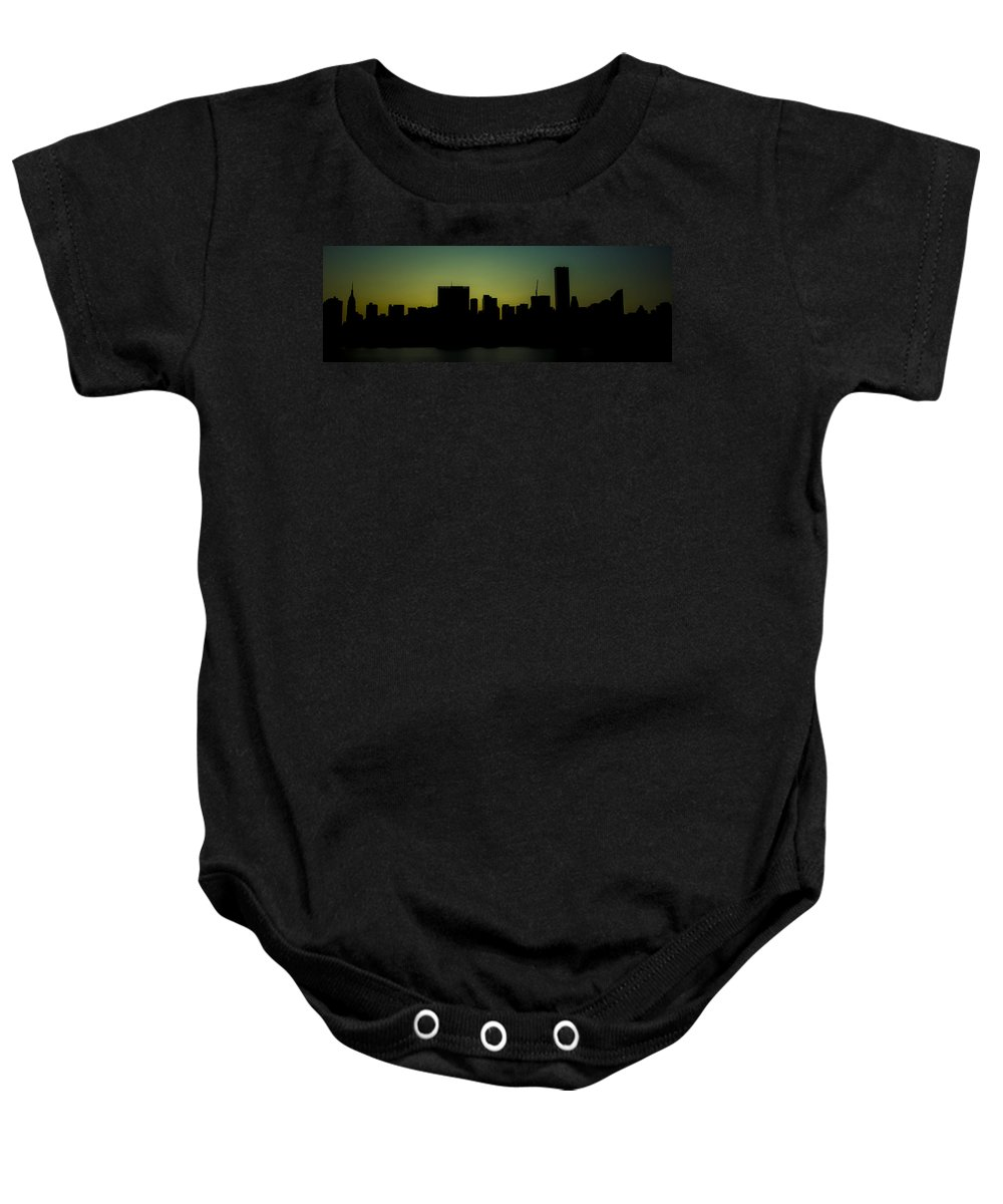 Citicorp Baby Onesie featuring the photograph Beauty Of The Night by Theodore Jones