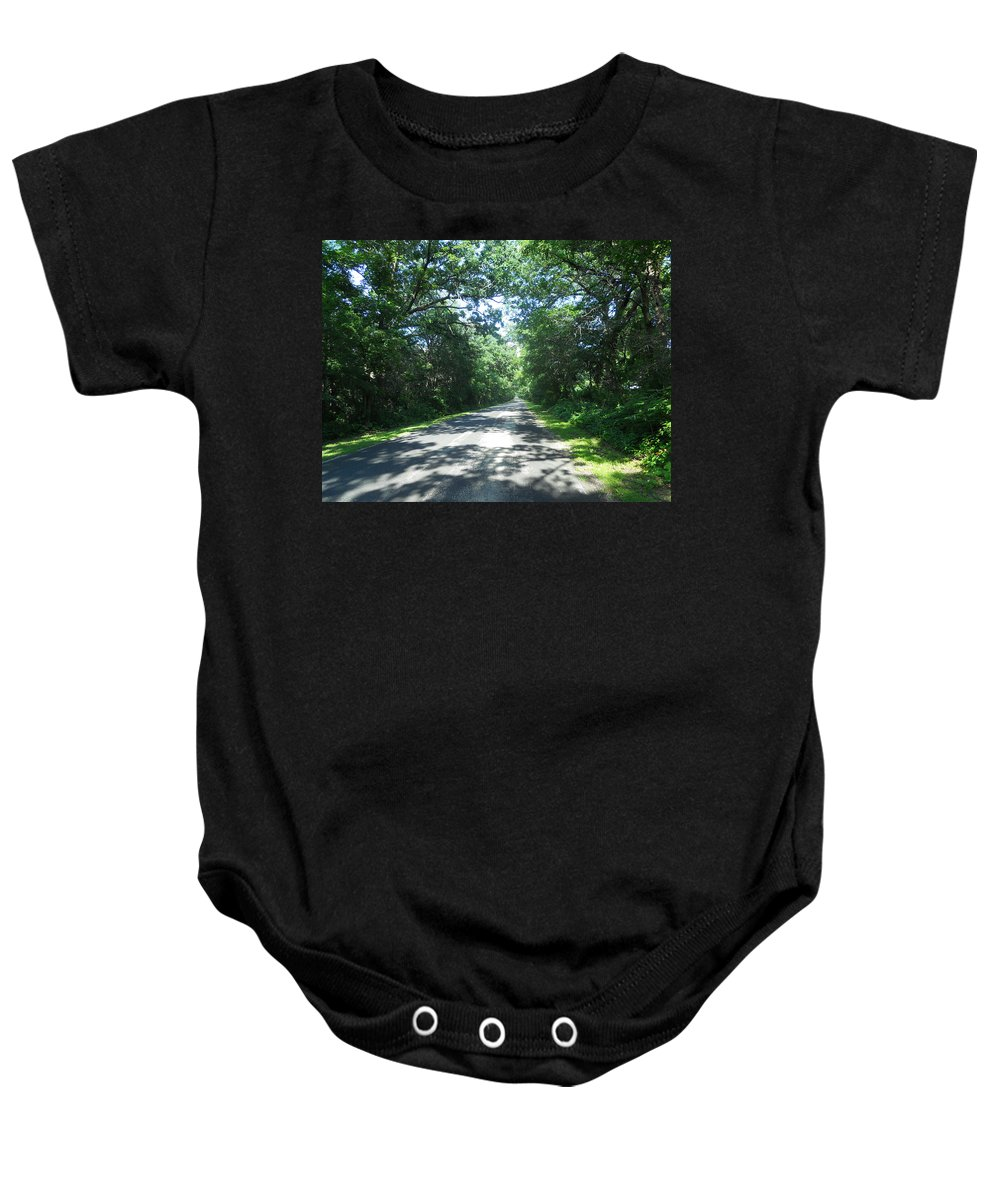 Roads Baby Onesie featuring the photograph Beer Can Alley by Coleen Harty