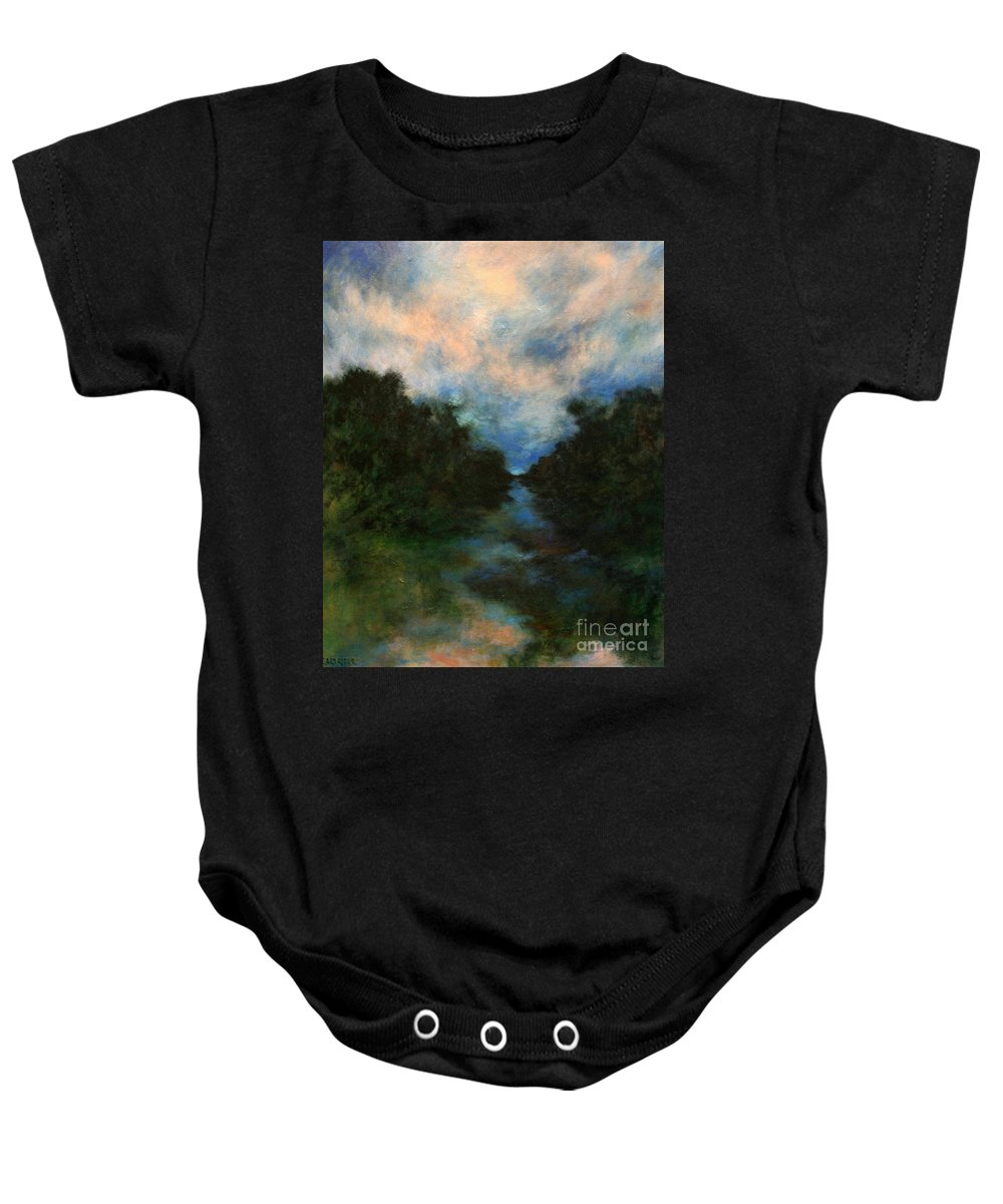 Impressionist Landscape Baby Onesie featuring the painting Before The Dream by Alison Caltrider