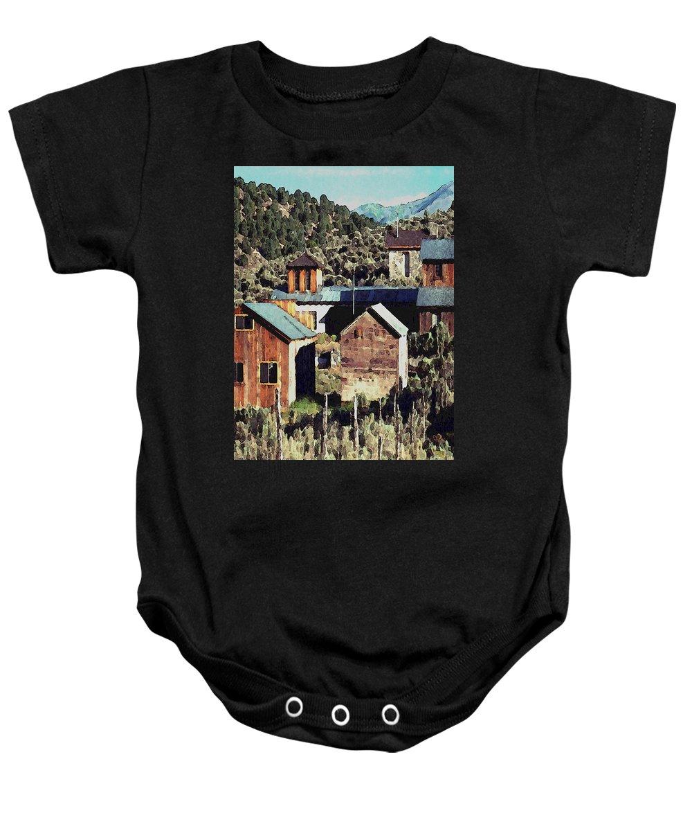 Digital Baby Onesie featuring the digital art Belmont Town by David Hansen