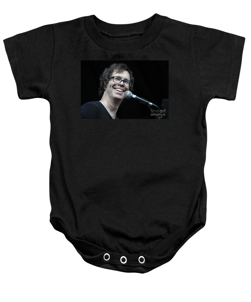 Black t shirt ben folds - Black T Shirt Ben Folds Stage Baby Onesie Featuring The Photograph Ben Folds Five By