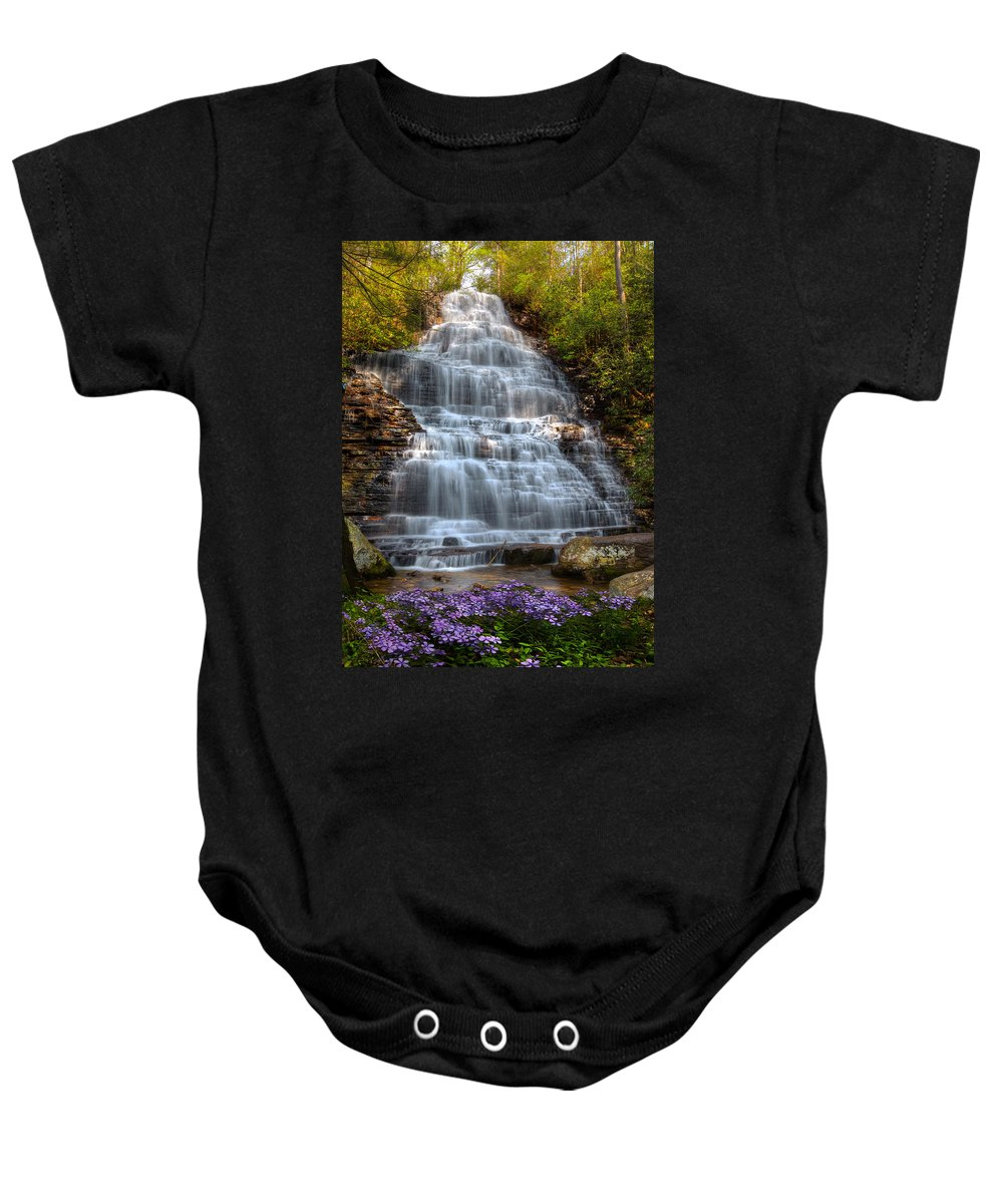 Appalachia Baby Onesie featuring the photograph Benton Falls In Spring by Debra and Dave Vanderlaan