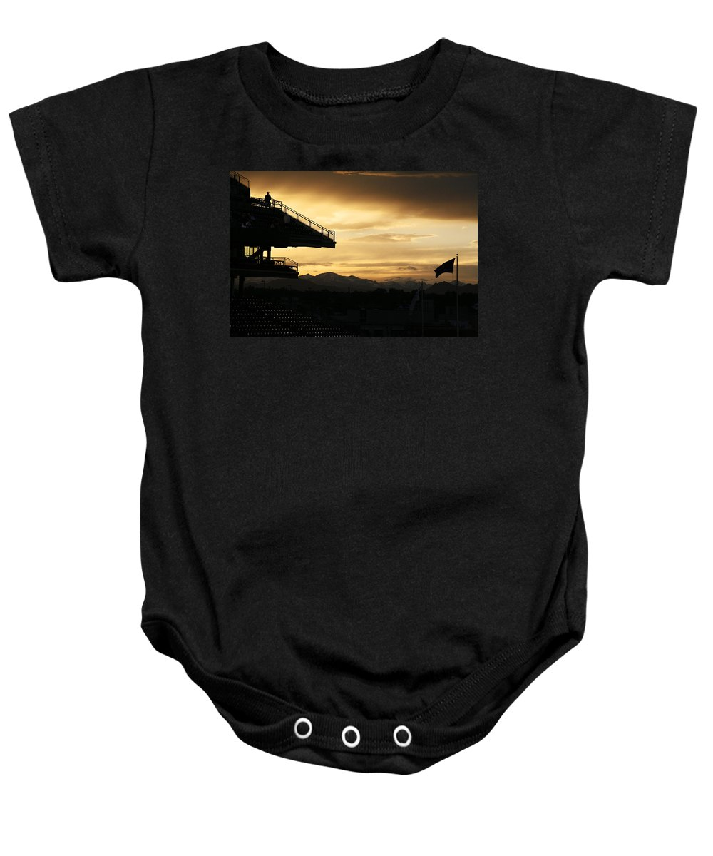 Americana Baby Onesie featuring the photograph Best View Of All - Rockies Stadium by Marilyn Hunt