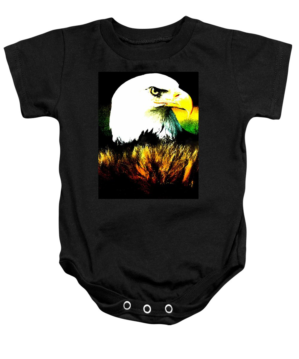 Colette Baby Onesie featuring the painting Beyond Eagle View by Colette V Hera Guggenheim
