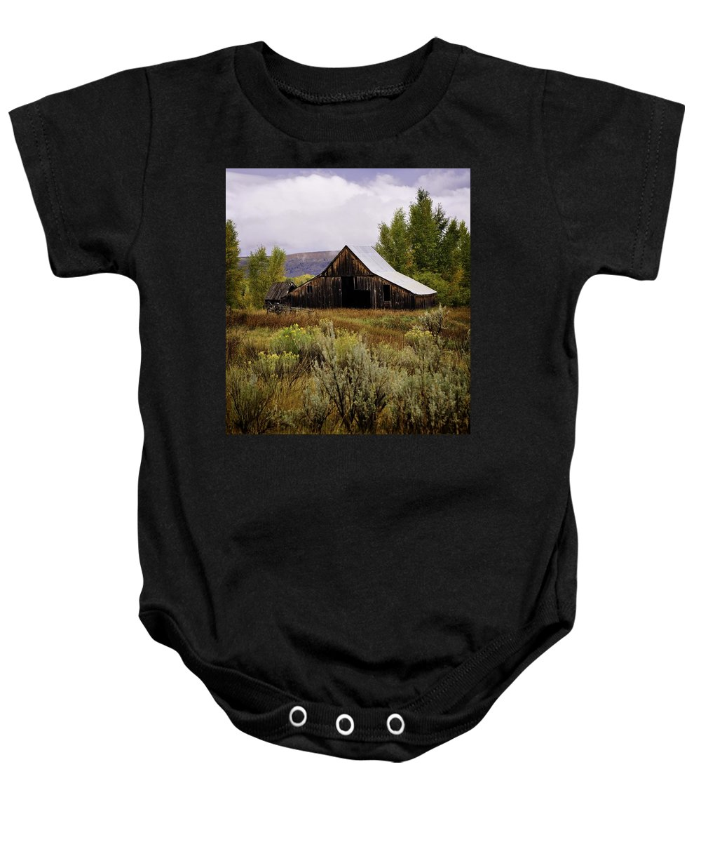 Palisades Baby Onesie featuring the photograph Beyond The Sagebrush by Image Takers Photography LLC - Laura Morgan
