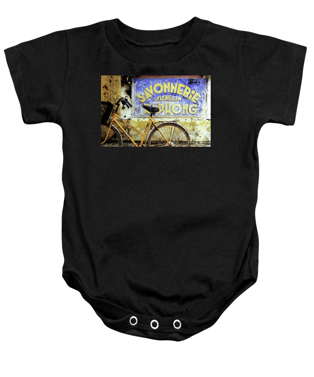 Weathered Baby Onesie featuring the photograph Bicycle 01 by Rick Piper Photography