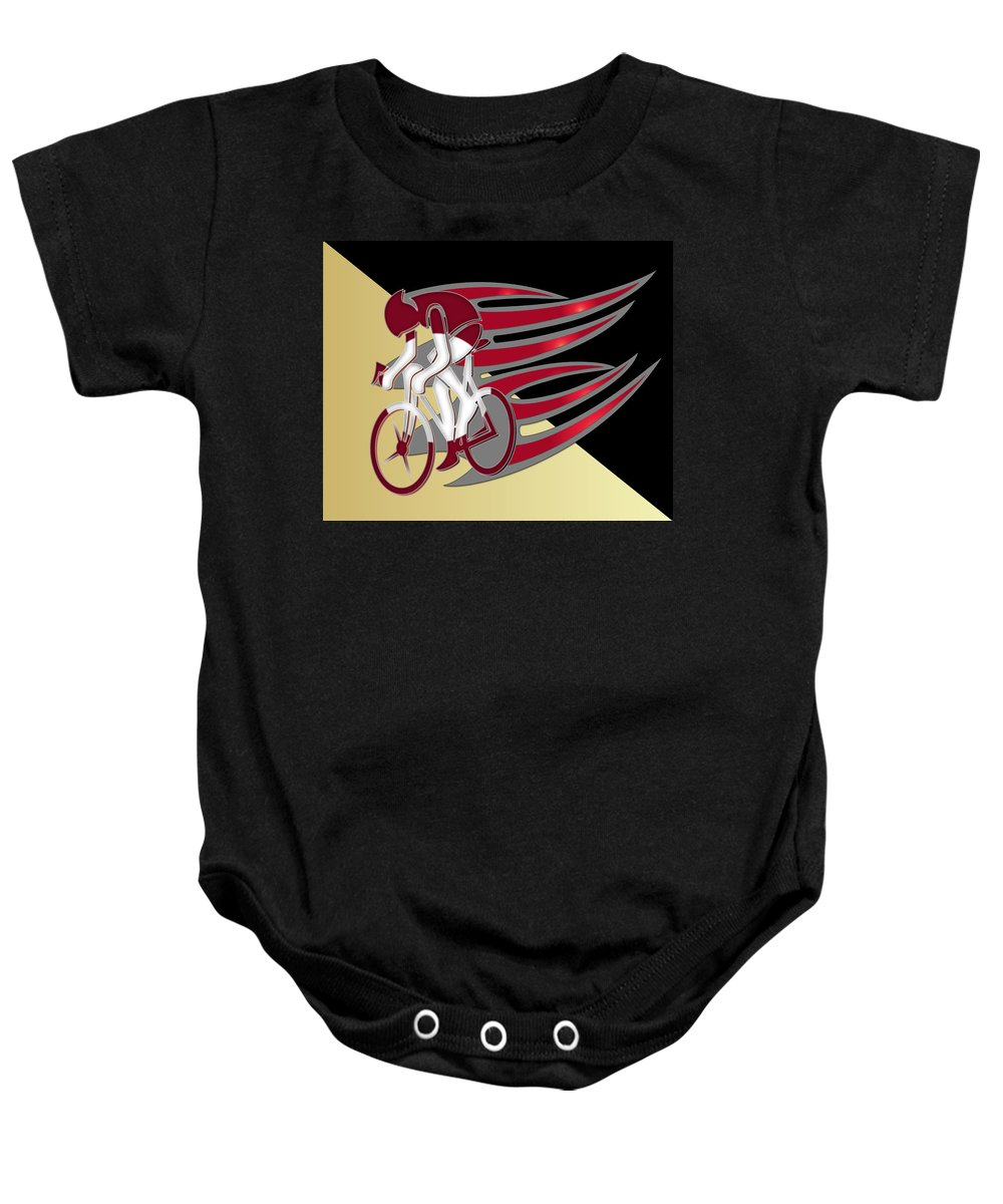 Bicycle Rider Baby Onesie featuring the photograph Bicycle Rider 01 by Carlos Diaz