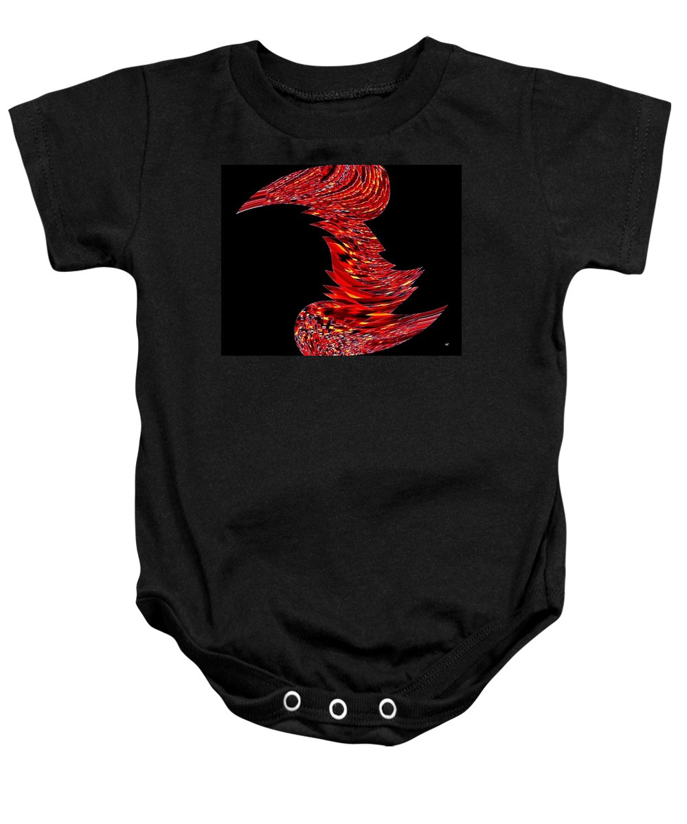Abstract Baby Onesie featuring the digital art Birds Of A Feather 2 by Will Borden