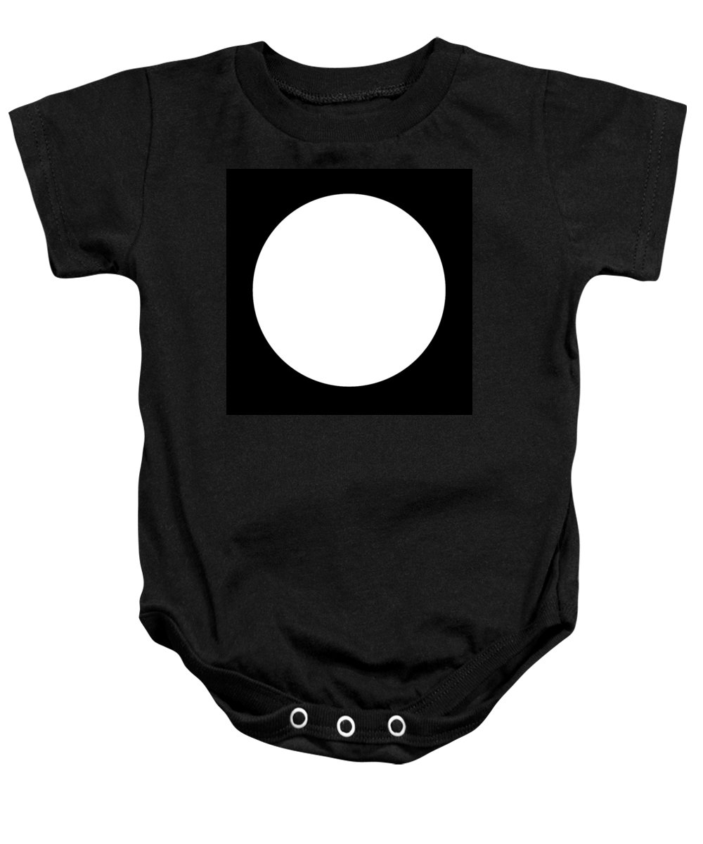 Black Baby Onesie featuring the digital art Black And White Art 164 by Ely Arsha
