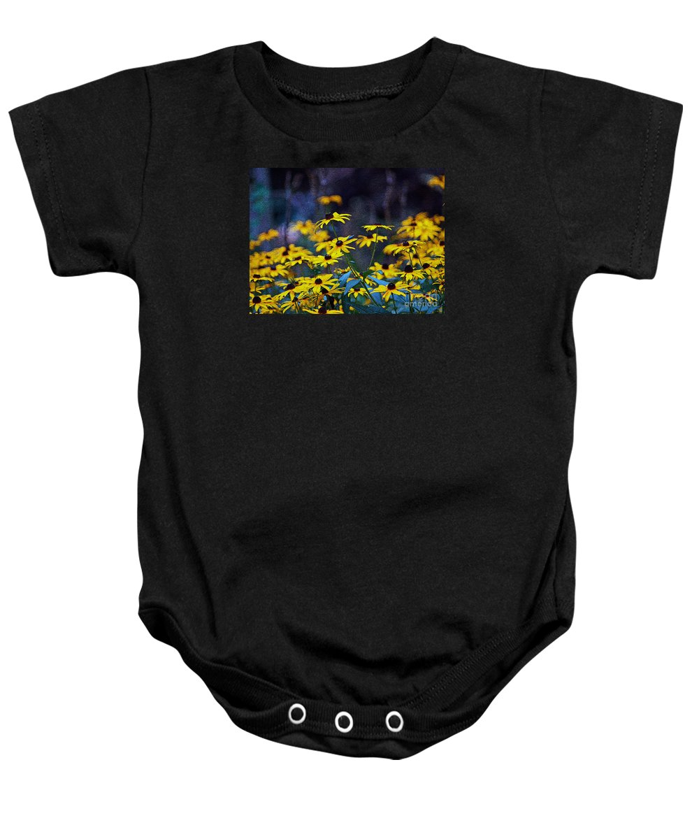 Mixed Media Art Baby Onesie featuring the photograph Black-eyed Susans by Patricia Griffin Brett