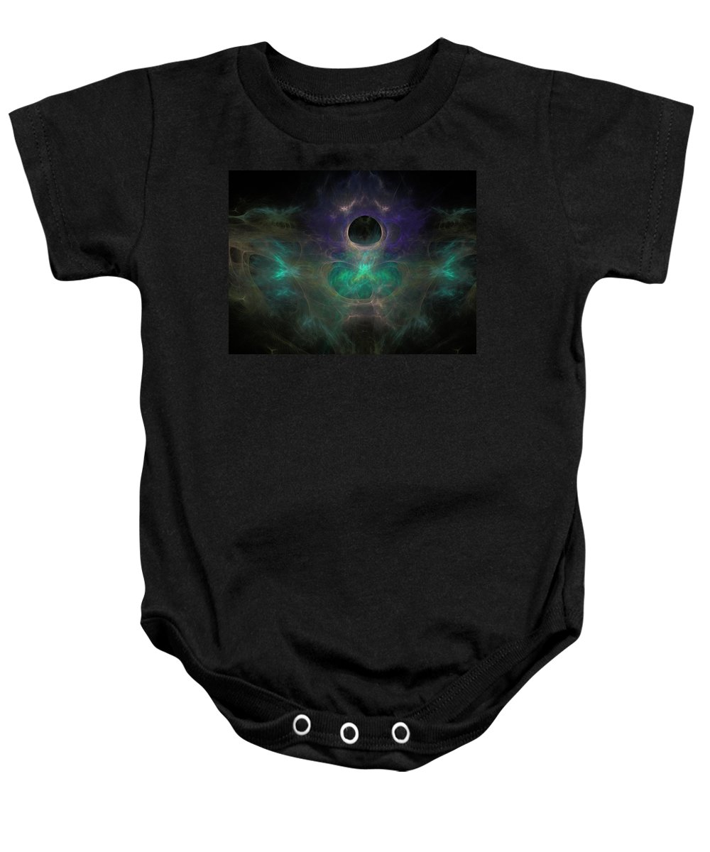 Fractal Baby Onesie featuring the painting Black Hole by Bruce Nutting