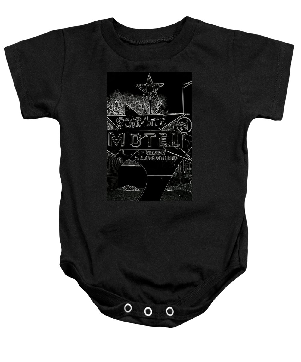 Black Lite Baby Onesie featuring the photograph Black Lite by Ed Smith