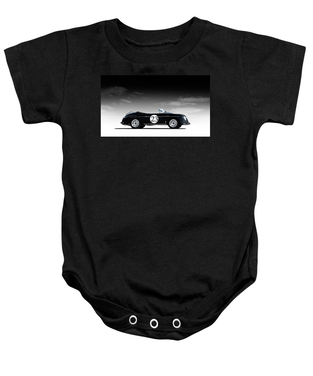 Black Baby Onesie featuring the digital art Black Speedster by Douglas Pittman