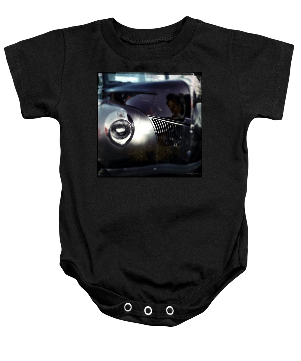 Classic Baby Onesie featuring the photograph Bloodshot Eye by Tim Nyberg