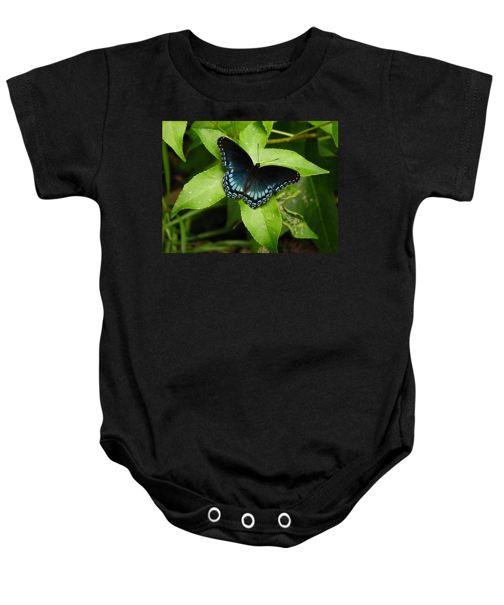 Butterfly Baby Onesie featuring the photograph Blue Beauty by Lisa Reid
