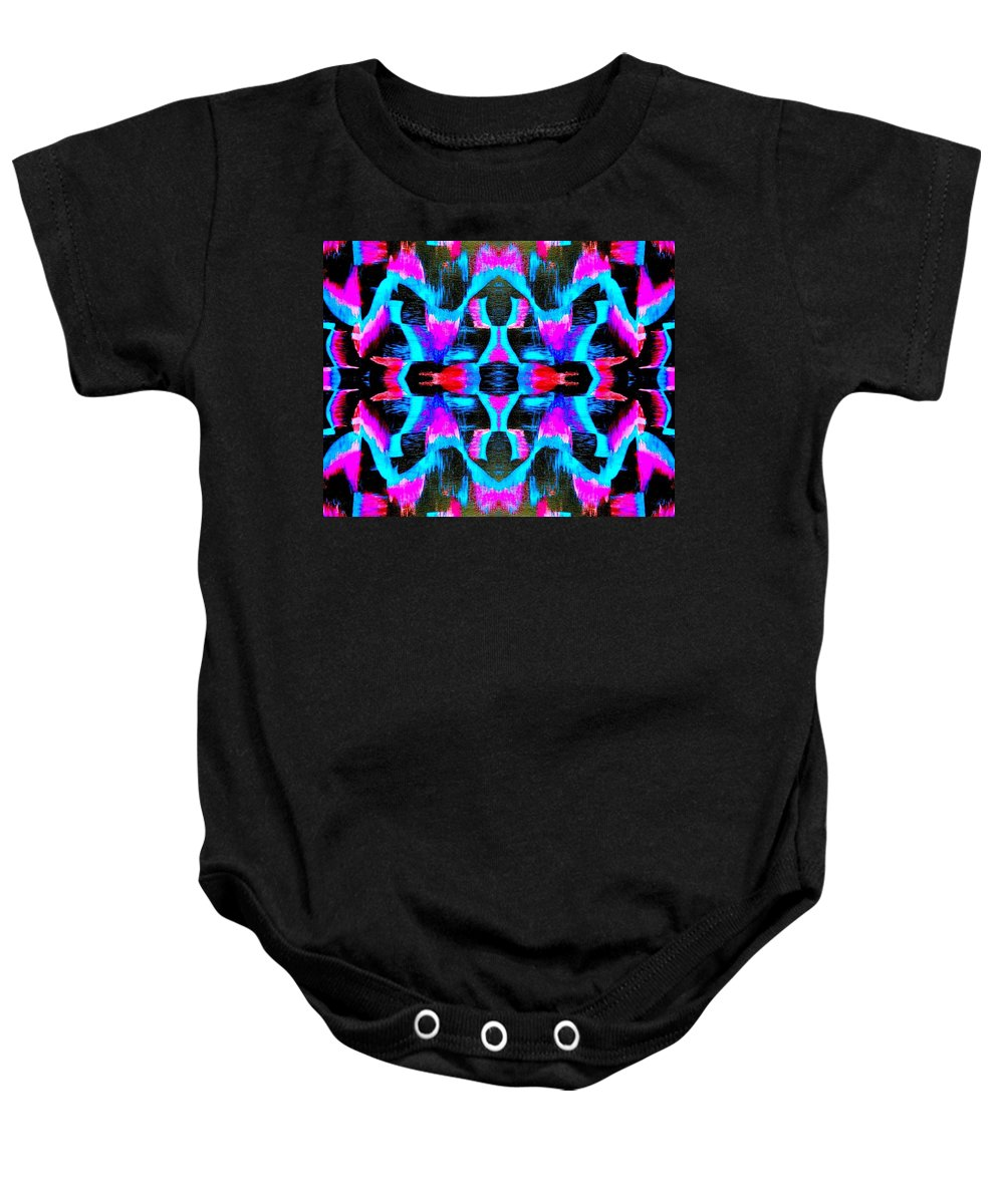 Color Baby Onesie featuring the painting Blue Echo by Drew Goehring