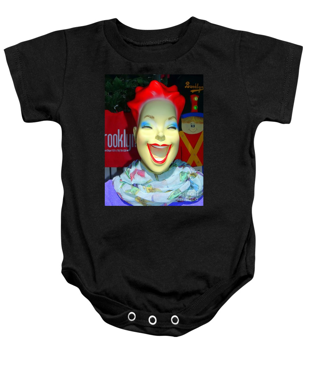 Mannequins Baby Onesie featuring the photograph Blue Eyeshadow by Ed Weidman