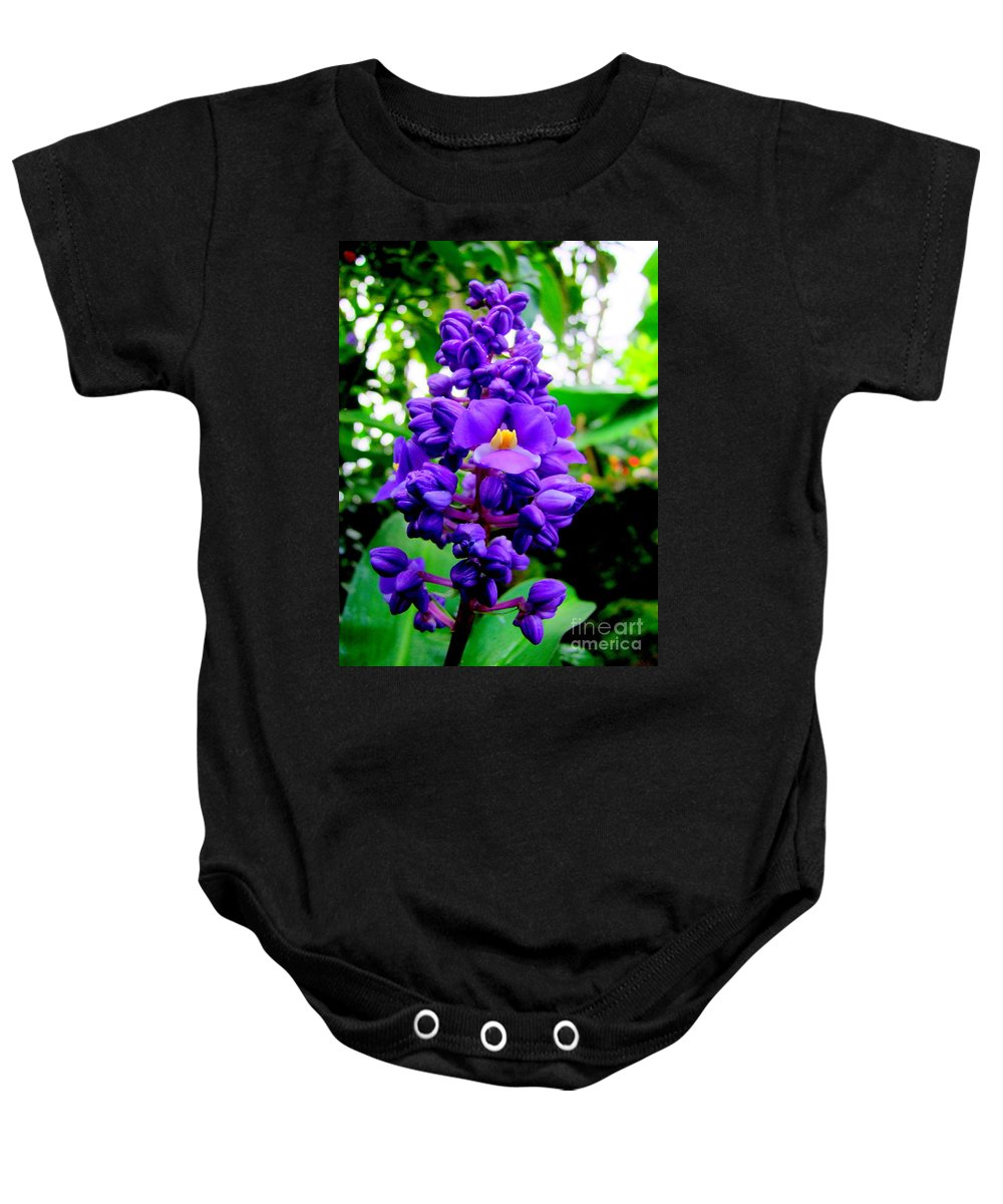 Flowers Baby Onesie featuring the photograph Blue Ginger by Mary Deal