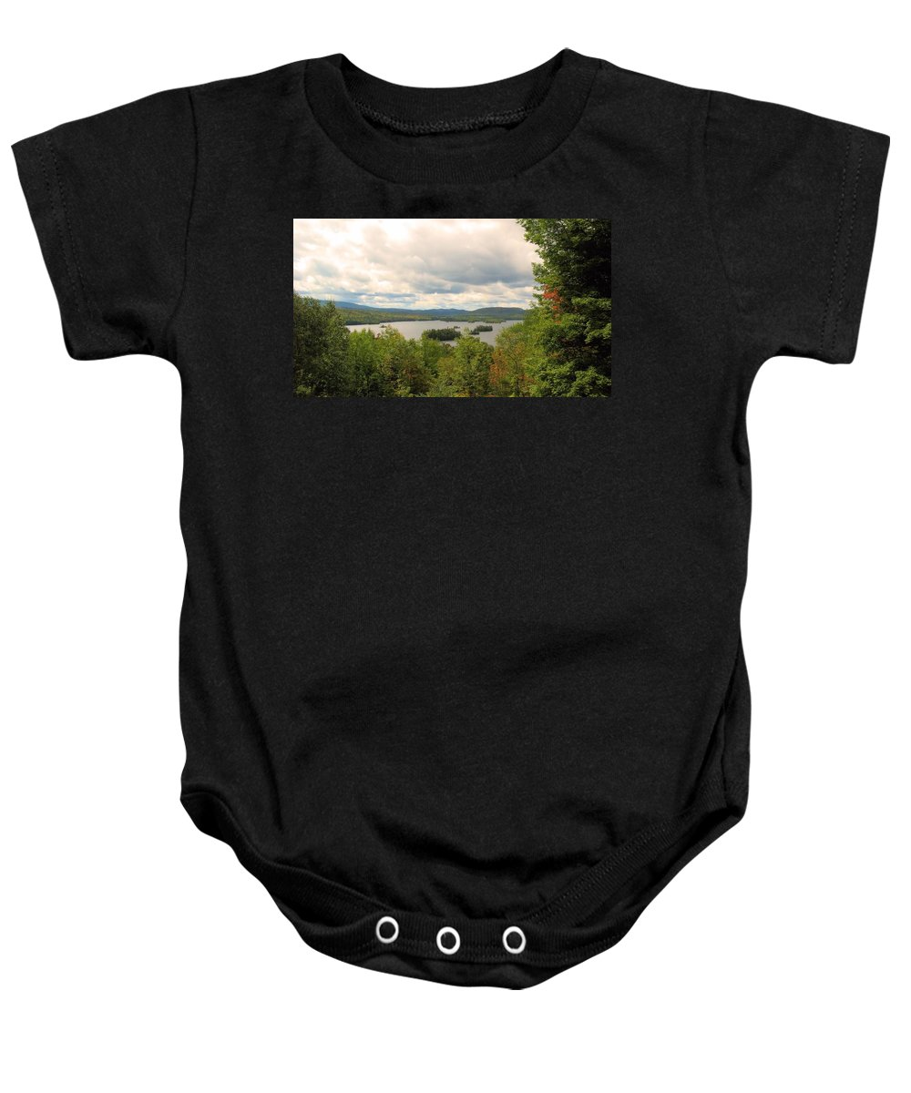 Blue Mountain Lake Baby Onesie featuring the photograph Blue Mountain Lake by Robert McCulloch