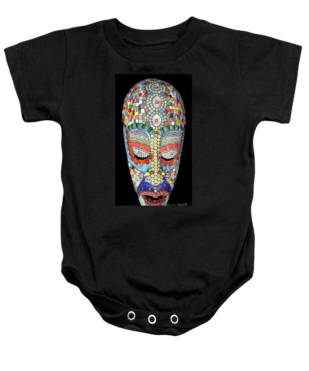 African Baby Onesie featuring the photograph Bob Why The Long Face by Valerie Fuqua