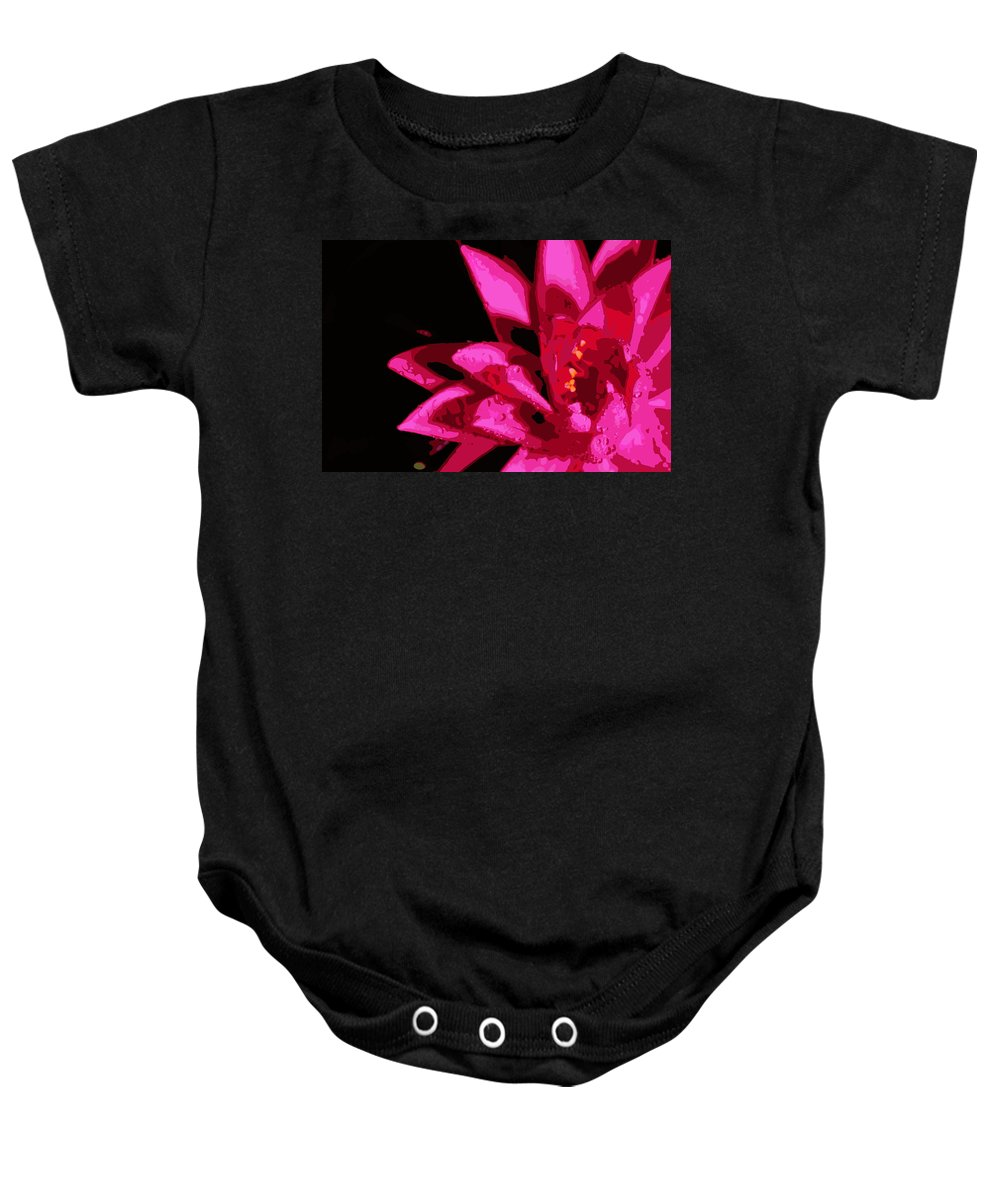 Lily Baby Onesie featuring the photograph Bold Lily by Tina Meador