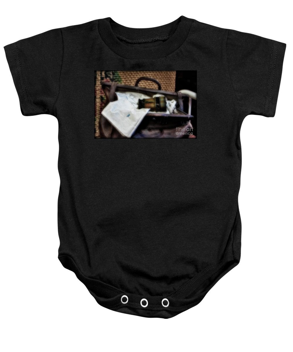 Binocular Baby Onesie featuring the photograph Bon Voyage by Susan Candelario