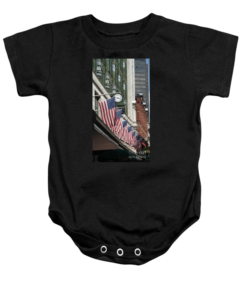 Boston Baby Onesie featuring the photograph Boston 4th Of July by Kerri Mortenson