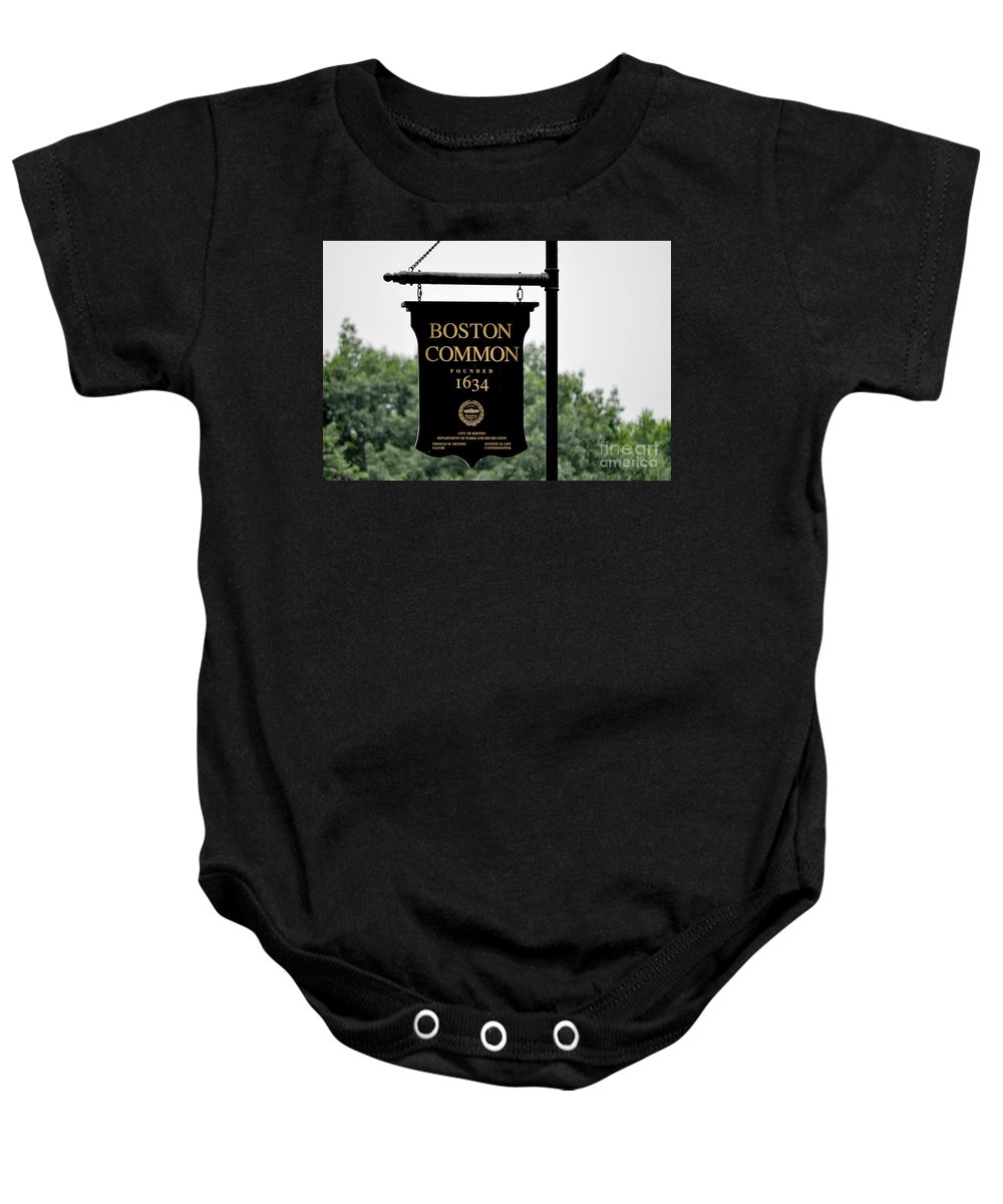 Massachusetts Baby Onesie featuring the photograph Boston Common Ma by Staci Bigelow