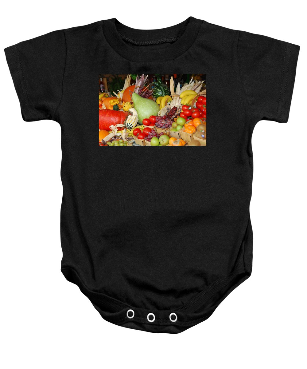 Fruits Baby Onesie featuring the photograph Bountiful Harvest by Lynn Bauer