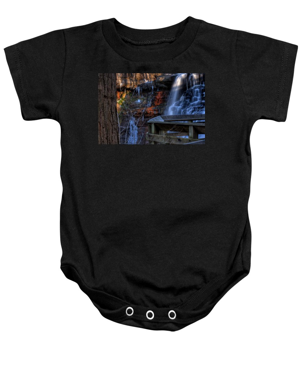 Falls. Waterfall Baby Onesie featuring the photograph Brandywine Falls by David Dufresne