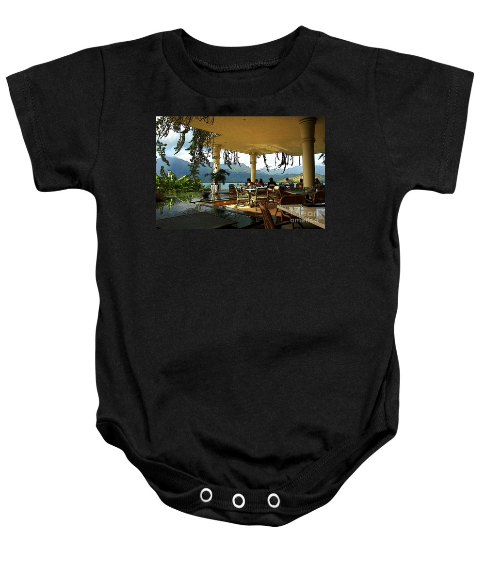 Restaurant Baby Onesie featuring the photograph Breakfast In Hanalei by James Eddy