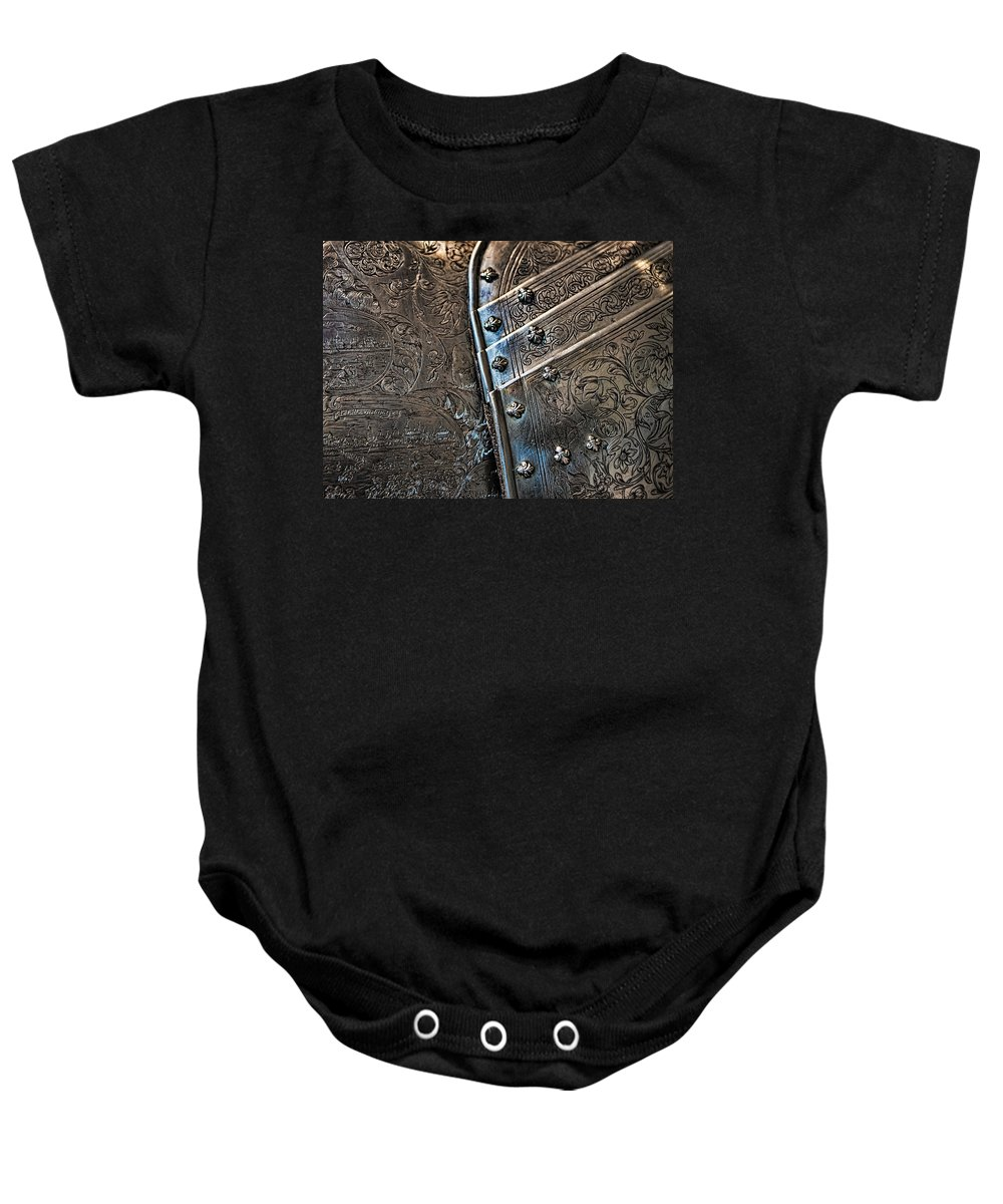 Baby Onesie featuring the photograph Breast Plate From The French Monarchy by Evie Carrier
