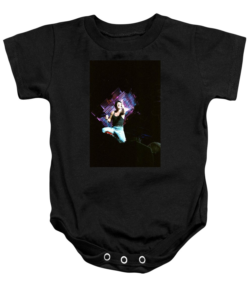 Acdc Baby Onesie featuring the photograph Brian Johnson by Sheryl Chapman Photography