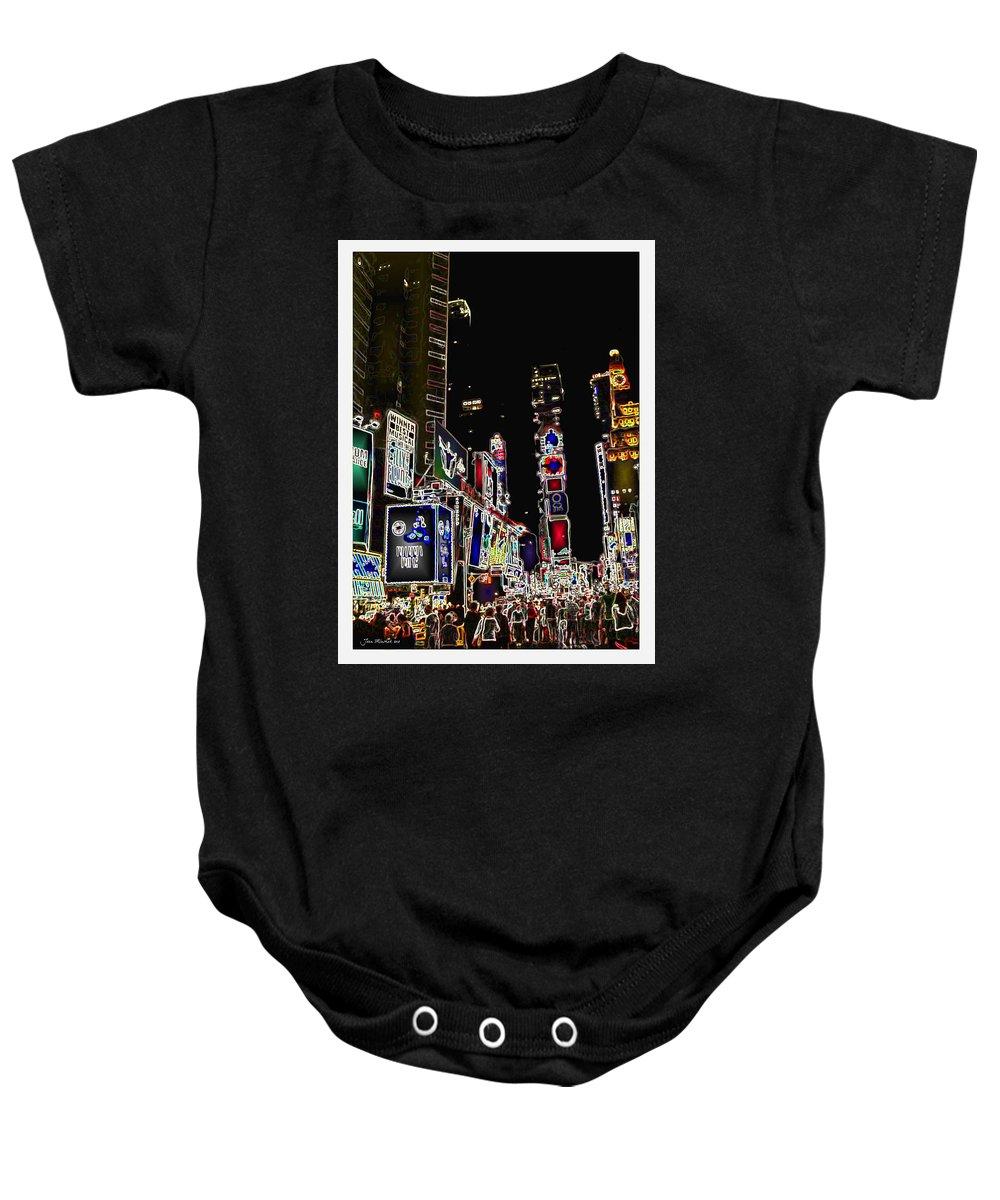 Broadway Baby Onesie featuring the digital art Broadway by Joan Minchak