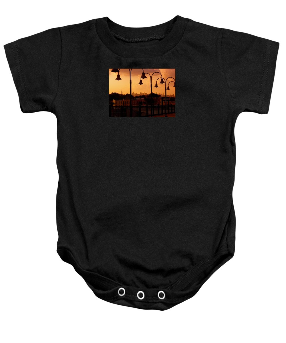 Iphone Cover Cases Baby Onesie featuring the photograph Broadway Junction In Brooklyn, New York by Monique's Fine Art