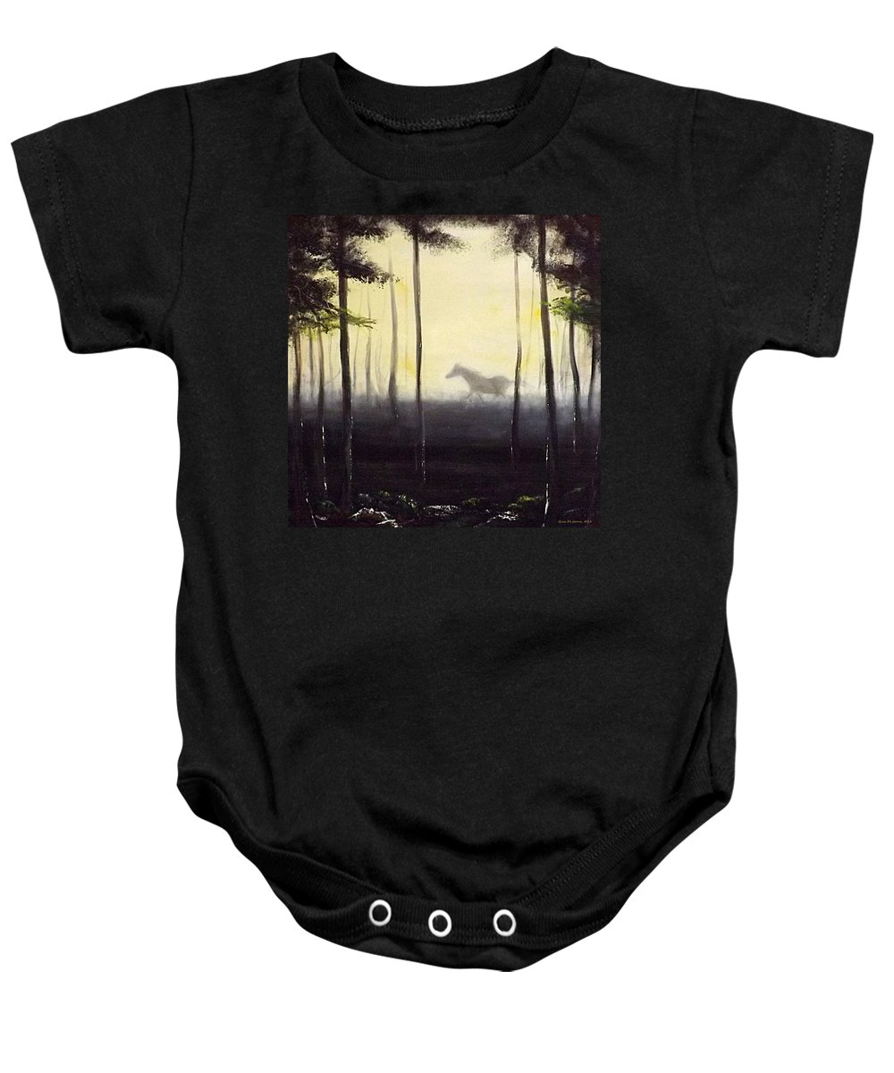 Horse Paintings Baby Onesie featuring the painting Bruno by Gina De Gorna