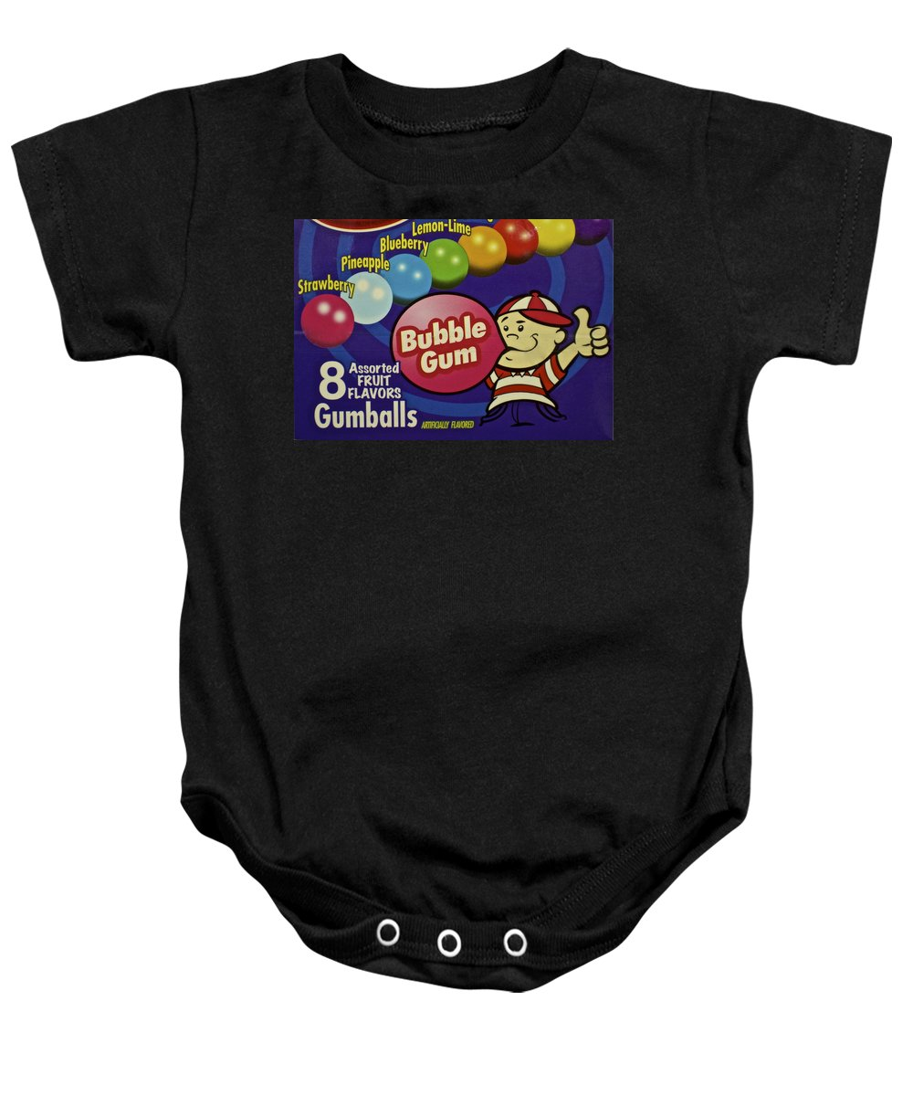 Bubble Baby Onesie featuring the photograph Bubble Gum by Frozen in Time Fine Art Photography