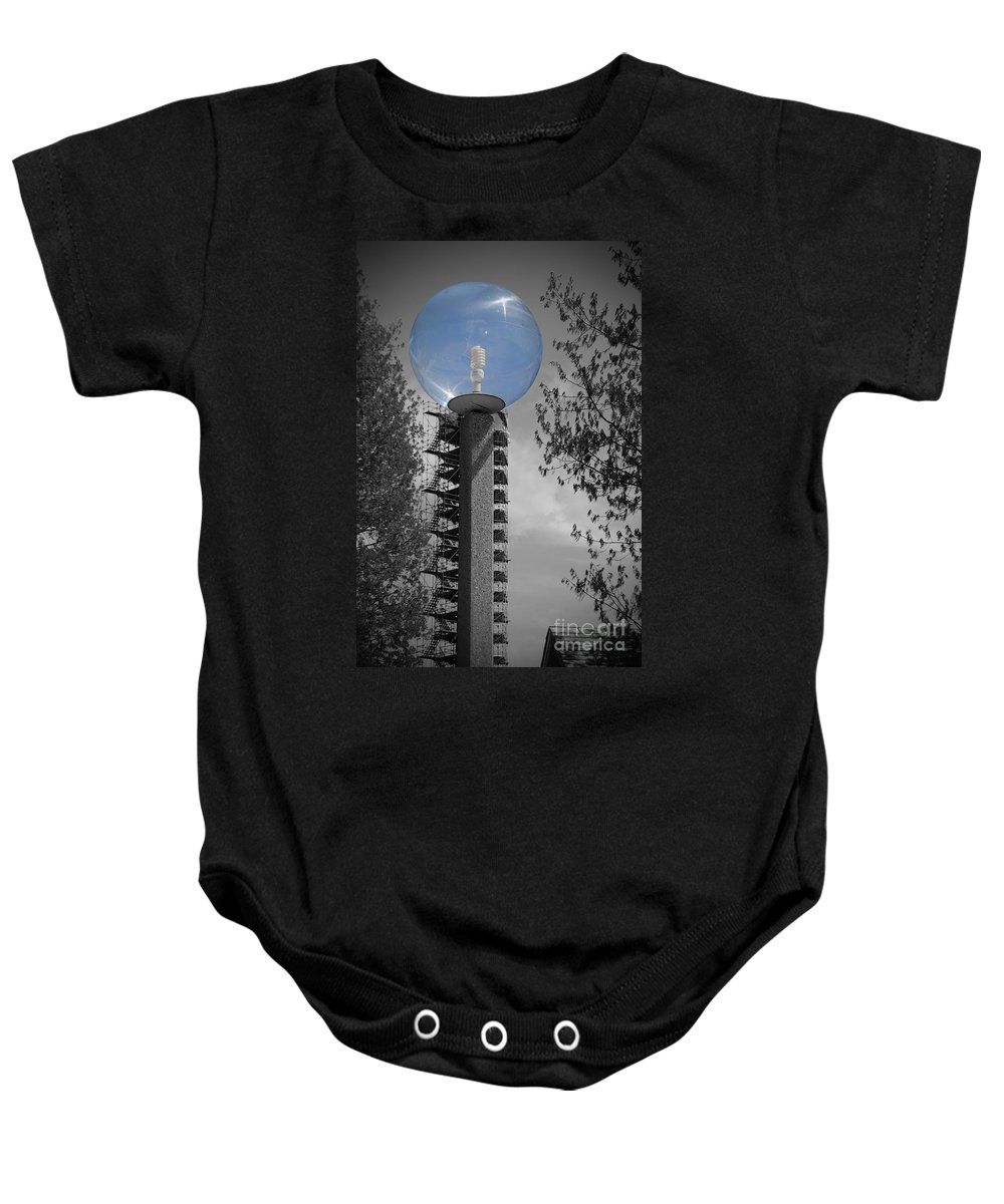 Bubble Baby Onesie featuring the photograph Bubble Light by Jost Houk