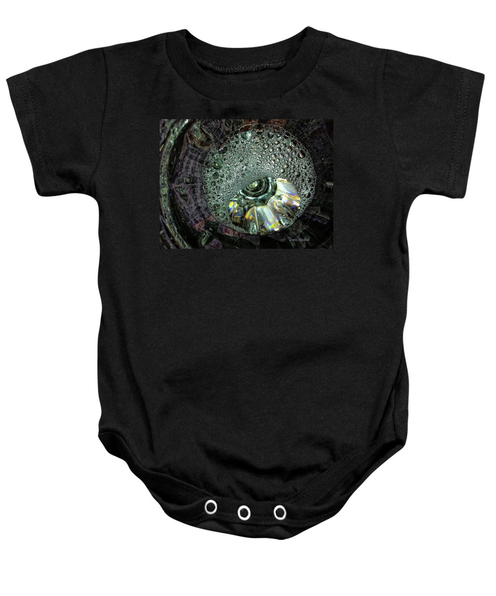 Water Baby Onesie featuring the photograph Bubble Trouble by Donna Blackhall