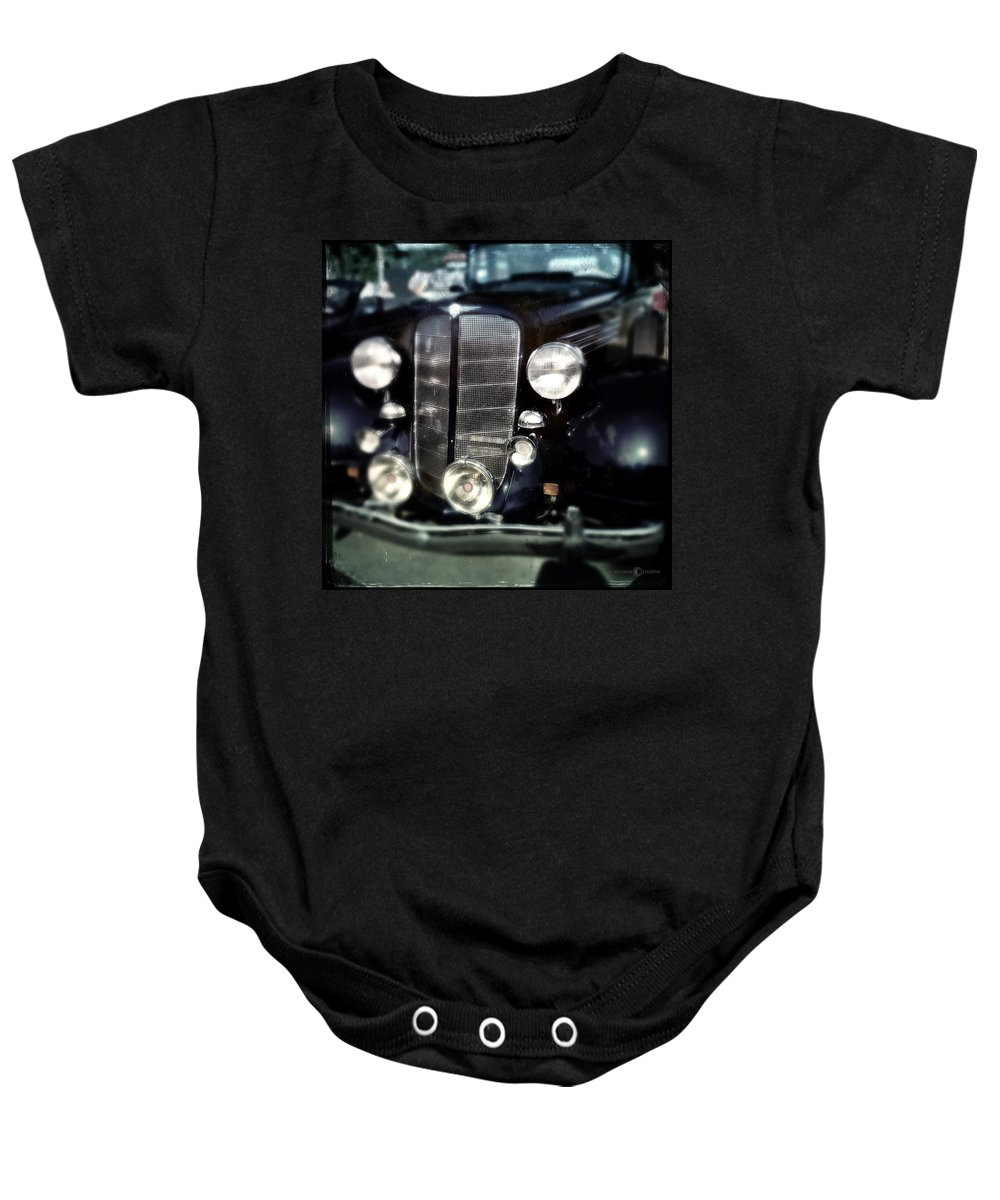Classic Baby Onesie featuring the photograph Buick At The Car Show by Tim Nyberg