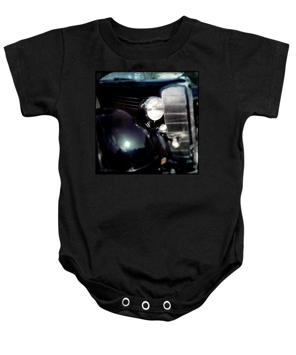 Classic Baby Onesie featuring the photograph Buick Fender by Tim Nyberg