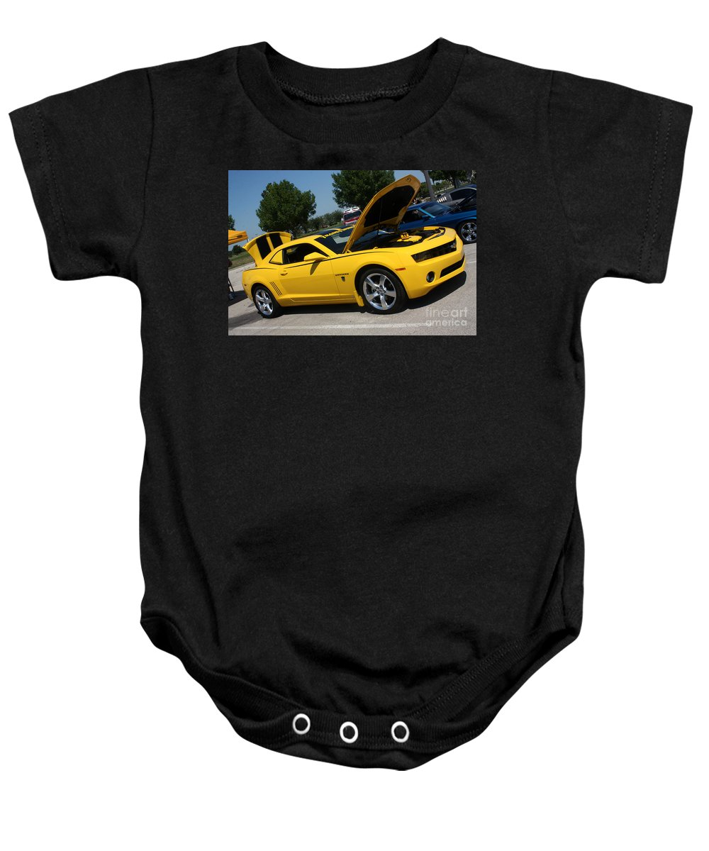 2011 Chevrolet Camaro Baby Onesie featuring the photograph Bumble Bee Side View 7904 by Gary Gingrich Galleries