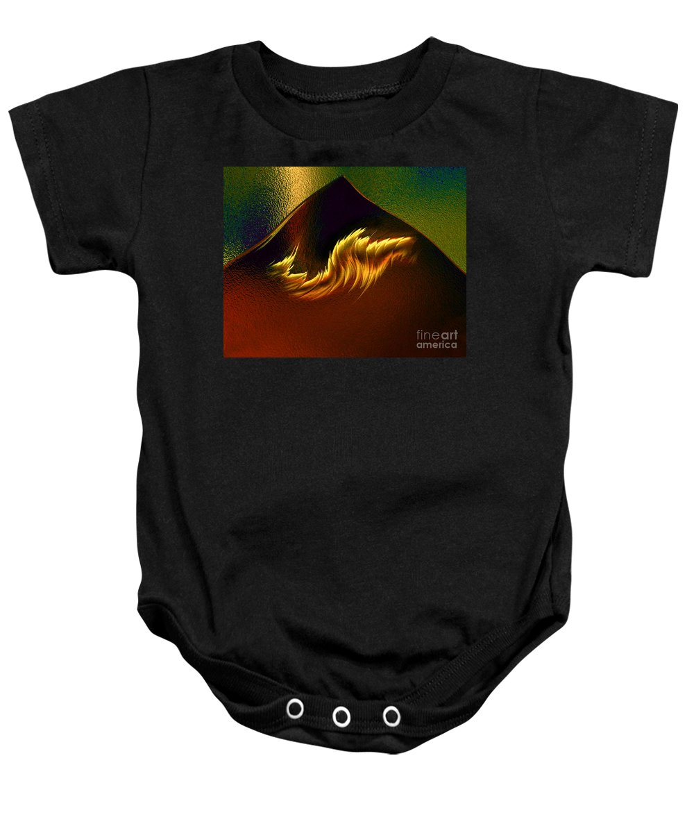 Abstract Baby Onesie featuring the digital art Burning Winds Across The Sahara by Peter Piatt